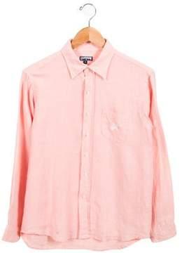 Vilebrequin Boys' Linen Button-Up Shirt
