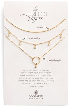Dogeared Women's Perfect Layers Set Of 3 Necklaces