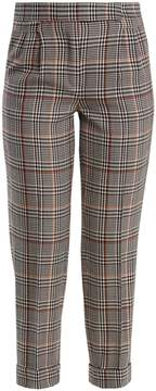 Amanda Wakeley Prince of Wales-checked stretch-wool trousers