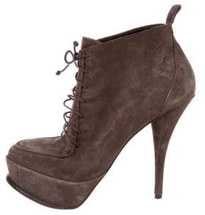 Elizabeth and James Platform Lace-Up Booties