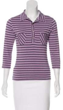 Cacharel Striped Jersey Top