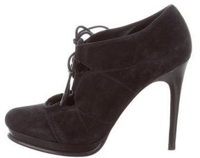 Diane von Furstenberg Suede Lace-Up Booties