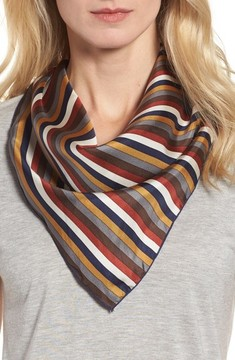 Donni Charm Women's Stripe Silk Neckerchief