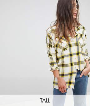 Noisy May Tall Oversized Checked Shirt