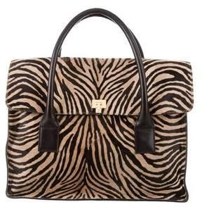Lambertson Truex Ponyhair Flap Bag