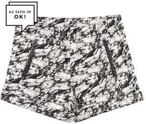 Ikks Black and White Tie Dye Jersey Shorts