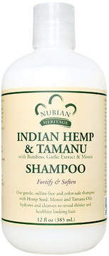 Nubian Heritage Indian Hemp + Tamanu Shampoo by 12oz Shampoo)