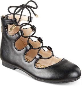 Sam Edelman Felicia Stella Lace-Up Flats, Little Girls (11-3) & Big Girls (3.5-7)