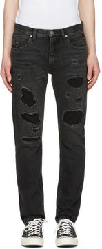 Helmut Lang Black MR 87 Destroy Jeans