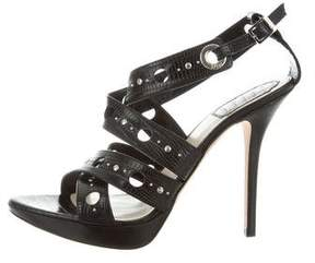 Christian Dior Studded Embossed Sandals