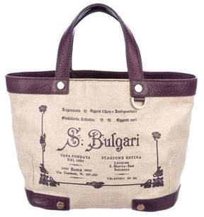 Bvlgari leather-Trimmed Shoulder Bag