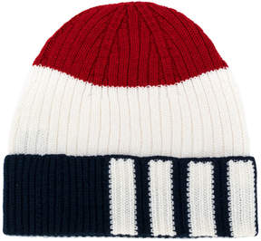 Thom Browne cashmere tri-stripe hat