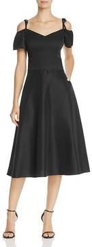 Betsey Johnson Cold-Shoulder Tea-Length Dress