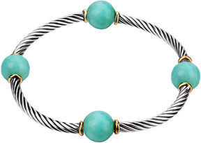 Footnotes Womens Green Stretch Bracelet