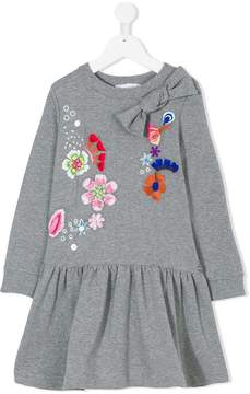 Simonetta floral embroidered dress