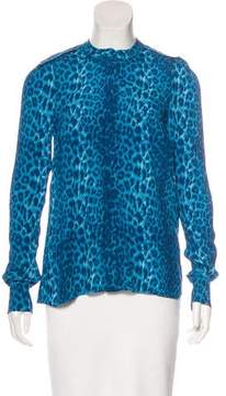 By Malene Birger Leopard Print Button-Up Top