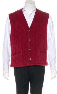 Bottega Veneta Quilted Fleece Vest