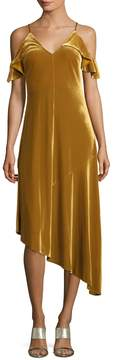 Donna Morgan Ochre Asymmetrical Dress