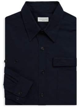 Dries Van Noten Long Sleeve Strap Cotton Shirt