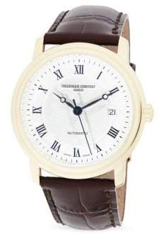 Frederique Constant Stainless Steel & Leather Strap Watch