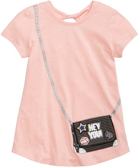 Jessica Simpson Patch Purse-Pocket T-Shirt, Big Girls (7-16)