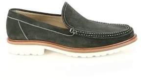 a. testoni Perforated Moc-Toe Loafers