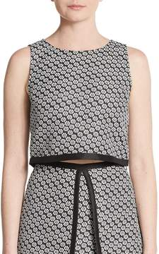 Erin Fetherston ERIN by Women's Margeaux Floral Jacquard Cropped Top