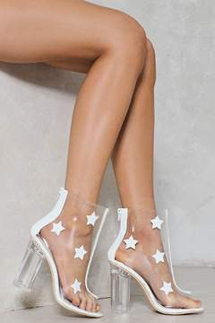 Nasty Gal The Prettiest Star Clear Bootie
