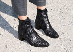 Freda Salvador Ace Handwoven Lace-Up Boot