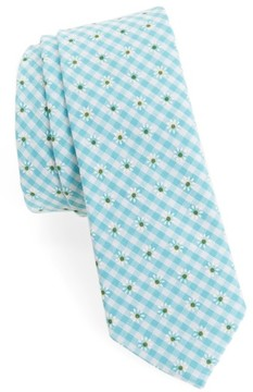 1901 Men's Flower & Gingham Cotton Tie