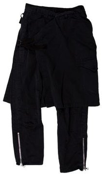 Dries Van Noten Cropped Overlay Pants