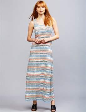 A Pea in the Pod Seraphine Pull Down Striped Nursing Dress