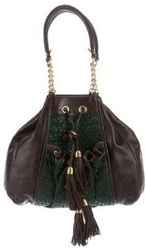 Zac Posen Suede-Accented Tote