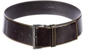 Prada Patent Leather Waist Belt