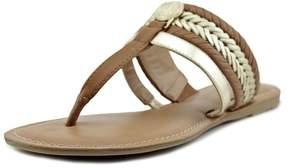 Tommy Hilfiger Lady Women US 7.5 Gold Thong Sandal