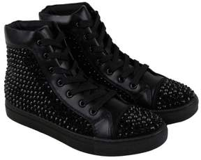 Steve Madden Crescent Black Mens High Top Sneakers