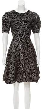 Alaia Patterned Fit and Flare Dress