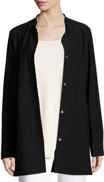 Eileen Fisher Washable Crepe Long Jacket
