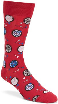 Hot Sox Dart Board Crew Socks