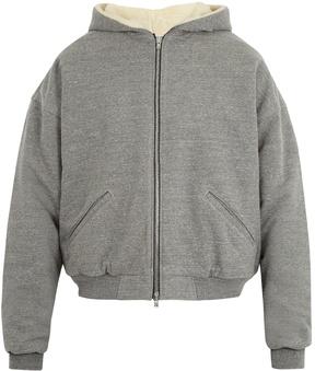 Fear Of God Zip-through cotton-blend hooded sweatshirt