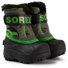 Sorel Cyber Green Toddler Snow Commander Quarry Boots