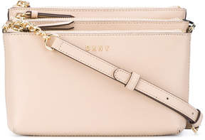 Donna Karan triple zip cross body bag
