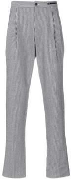 Pt01 striped straight leg trousers
