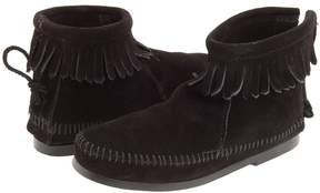 Minnetonka Kids - Back Zipper Boot Hardsole Girls Shoes