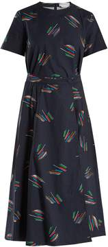 DAY Birger et Mikkelsen GABRIELA HEARST Eva abstract lines-print cotton dress