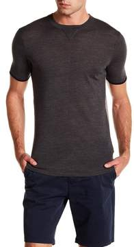 Scotch & Soda Short Sleeve Two Toned Wool Tee