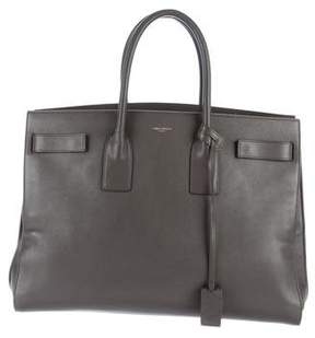 Saint Laurent Large Sac de Jour - GREY - STYLE