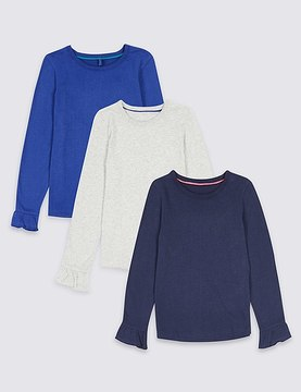 Marks and Spencer 3 Pack Pure Cotton Tops (3 Months - 6 Years)