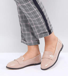 London Rebel Wide Fit Flat Loafers