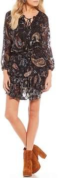 Chelsea & Violet Tiered Burnout Velvet Dress